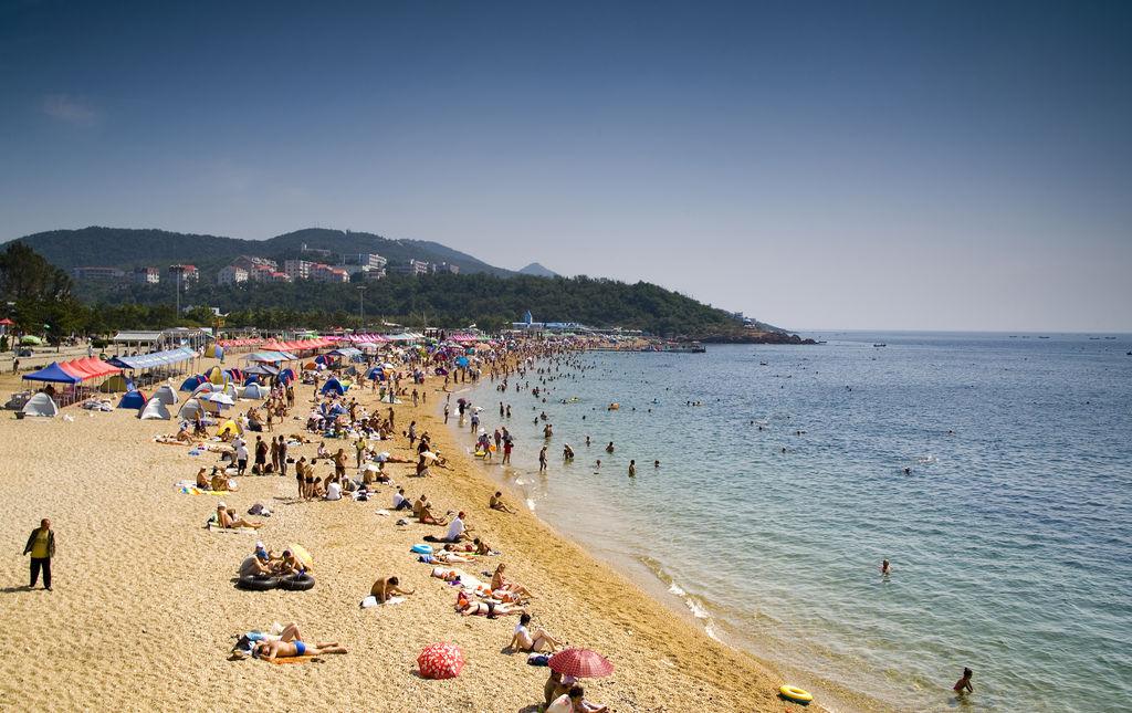 大连海滩风景