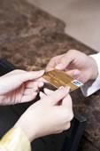 手持信用卡